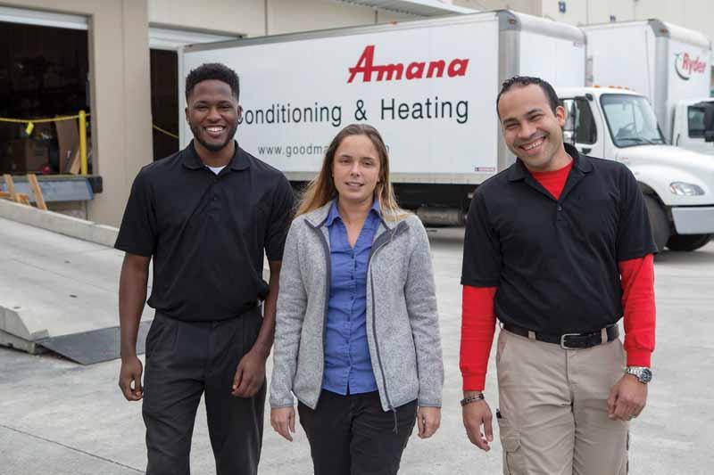 amana employees on dock